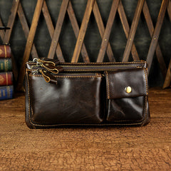 Leather Fanny Pack Mens Waist Bag Hip Pack Belt Bag Bumbag for Men