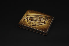 Handmade Leather Tooled Transformers Megatron Mens billfold Wallet Cool Leather Wallet Slim Wallet for Men