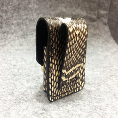 Cool Mens Leather Snake Zippo Lighter Cases with Loop Zippo lighter Holder with clips