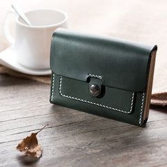 Handmade Leather Mens Cool billfold Wallet Card Holder Small Card Wallets for Men Women