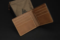 Handmade Leather Tooled EVANGELION EVA Mens Short Wallet Cool Leather Wallet Slim Wallet for Men