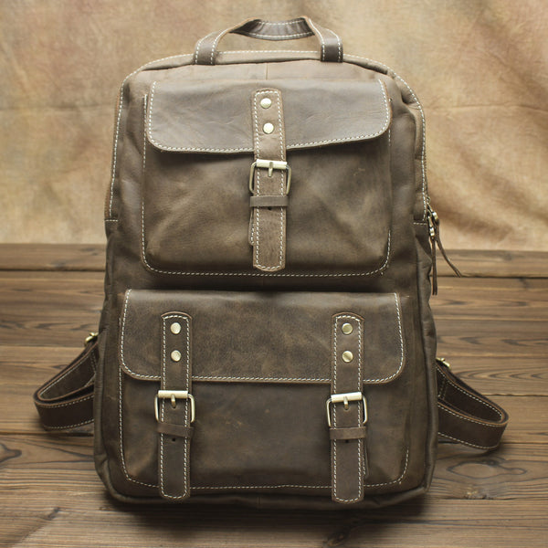 Vintage Mens Backpacks Laptop Backpack Travel Backpack Bags for Men