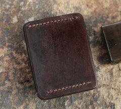 Cool Mens Leather Zippo Lighter Case with Loop Zippo lighter Holder with clip