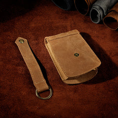 Handmade Leather Mens Cool Key Wallet Car Key Holder Key Case for Men