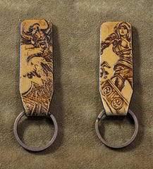 Handmade Leather Tooled League of Legends LOL KeyChain Key Ring Mens Cool Car Key Wallet Wallet Car for Men