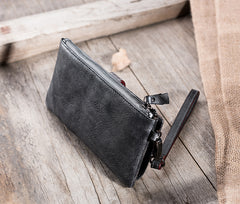 Handmade Leather Mens Biker Wallet Cool Leather Wallet Long Wrist Wallets for Men