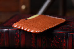 Handmade Mens Cool Short Leather Wallet Men Small Card Slim Wallets Bifold for Men