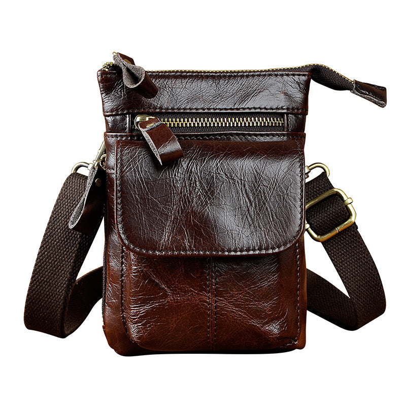 452a69e67fad Next.  59.00 59.00. Overview  Design  Mens Leather Small Side Bag Waist  Pouch Holster COURIER BAG Belt Case ...