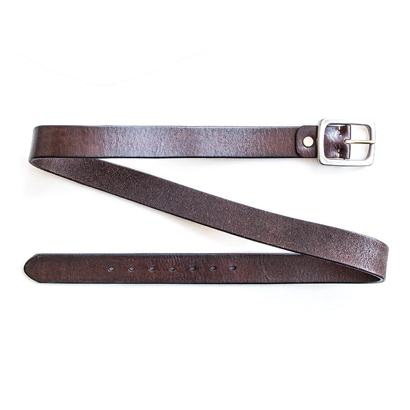 Handmade Genuine Custom Leather Mens Leather Men Coffee Black Belt for Men