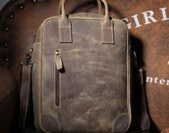 Handmade Leather Mens Cool Backpack Bag Messenger Bag Briefcase Work Bag Laptop Bag for men