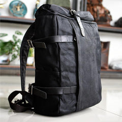 Waxed Canvas Mens Computer Khaki Backpack Black Backpack Travel Backpack Hiking Backpack for Men