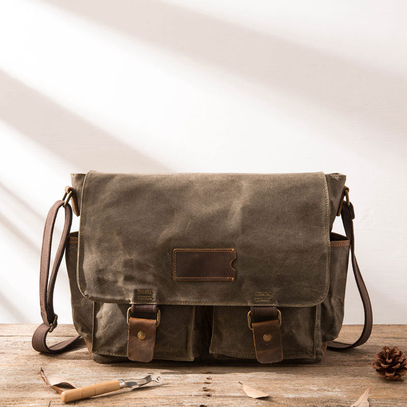 Next.  109.00 109.00. Overview:. Design  Waxed Canvas Messenger Bags for men  Vintage Shoulder Bag for men 47434f8a53cc0