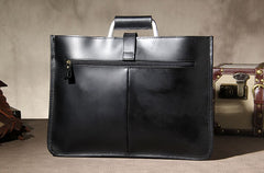 Genuine Leather Mens Vintage Cool Briefcase Work Bag Business Bag Laptop Bag for men
