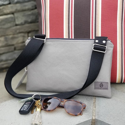 WIPE-CLEAN ZIP CROSSBODY POUCH (choice of color)