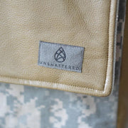 CHOOSE YOUR ACCENT COLOR: LARGE MIXED MEDIA ARMY ACU MESSENGER BAG