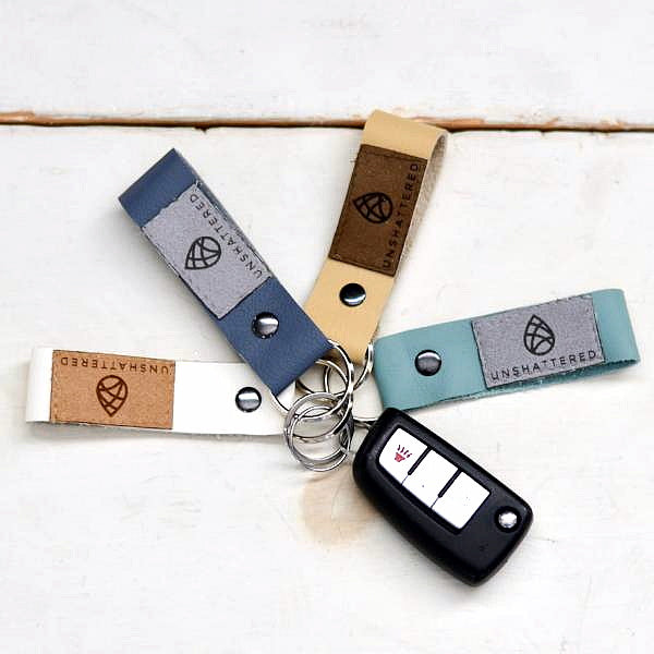 LEATHER KEYCHAIN (choice of color)