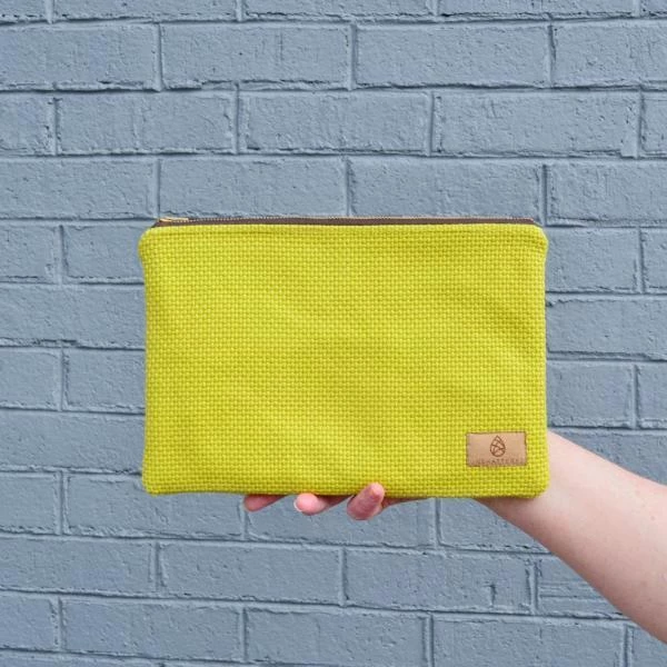 LARGE ZIP POUCH - VARIOUS COLORS