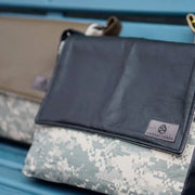 MIXED MEDIA US ARMY MESSENGER (choice of accent color)