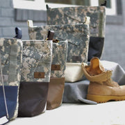 CHOOSE YOUR ACCENT COLOR: MIXED MEDIA US ARMY TOTE