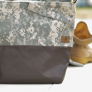 MIXED MEDIA US ARMY TOTE (choice of accent color)