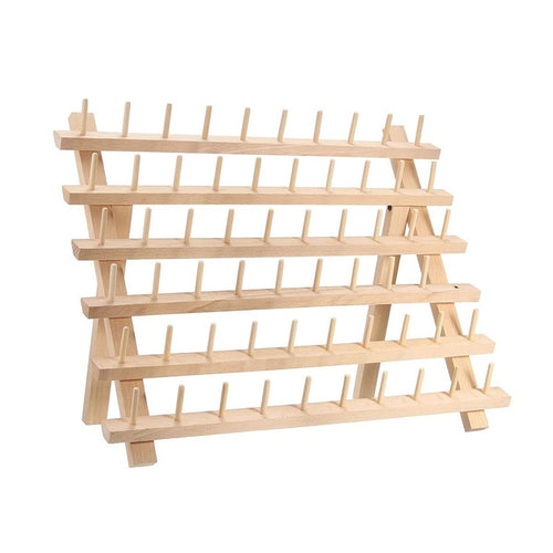 60 Spool Wooden Thread Rack