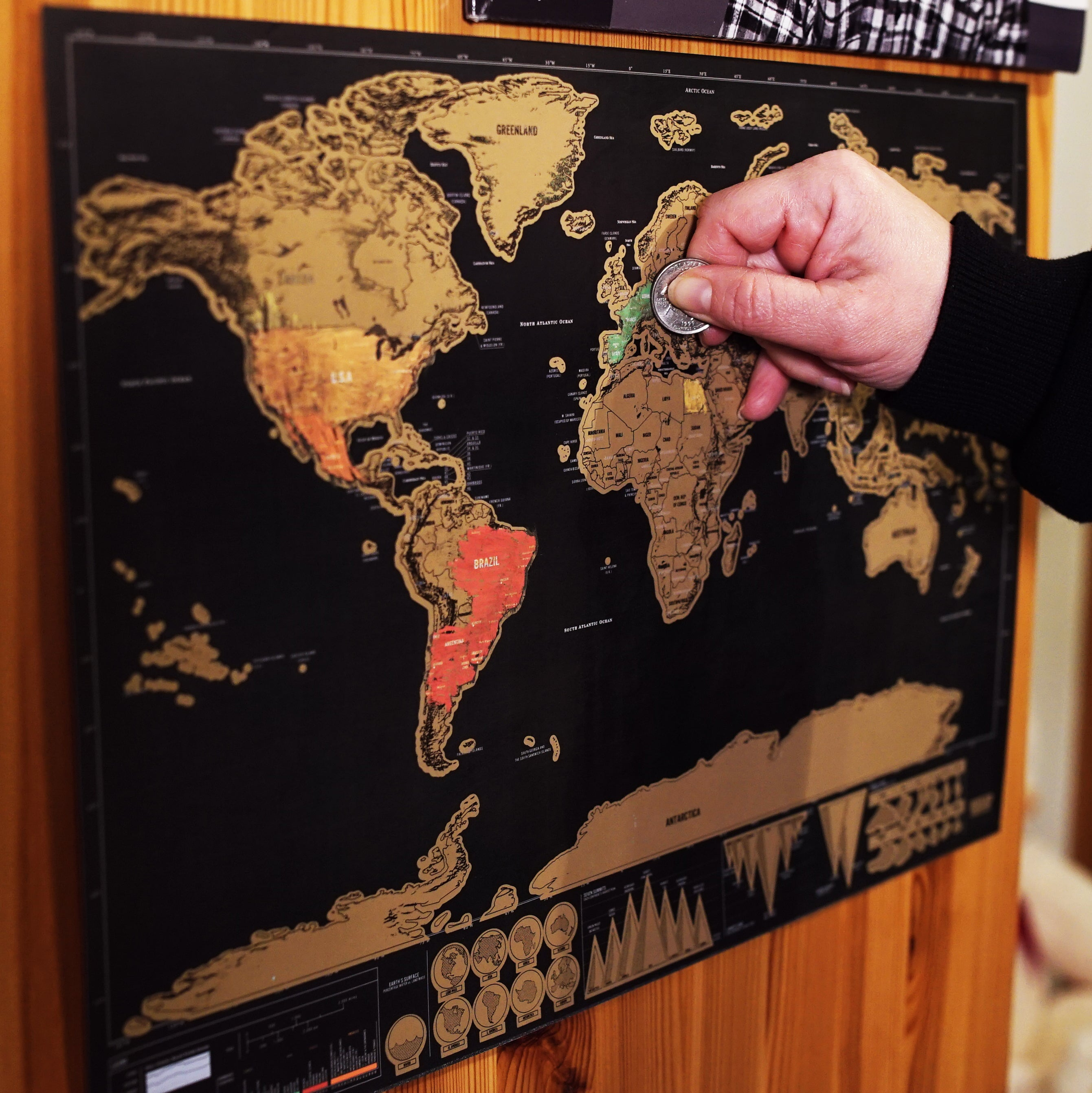 Scratch off world map must have for every travel lover travline scratch off world map must have for every travel lover gumiabroncs Gallery