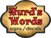 Hurd's Words Signs & Decals