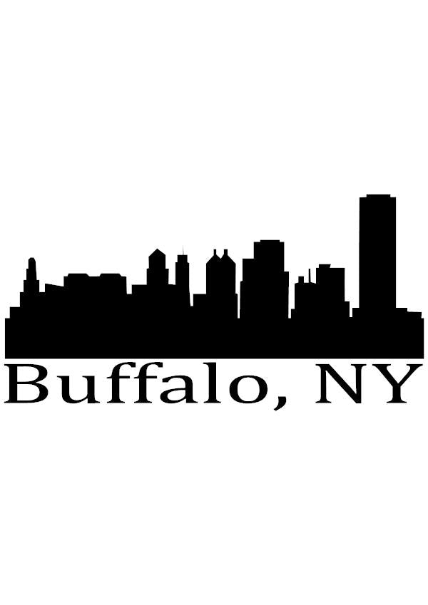 Buffalo skyline vinyl decal hurds words signs decals