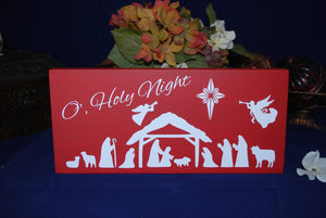 "Wooden Sign, ""O', Holy Night"""