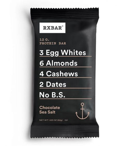 RX BAR, Chocolate Sea Salt, Box of 12