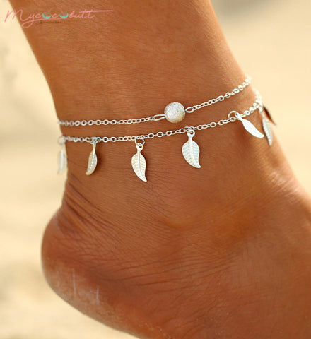 Silver Feather | Ankle Bracelet
