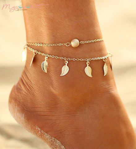 Gold Feather | Ankle Bracelet