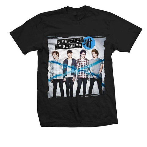 5 Seconds Of Summer Album - Mens Black T-Shirt