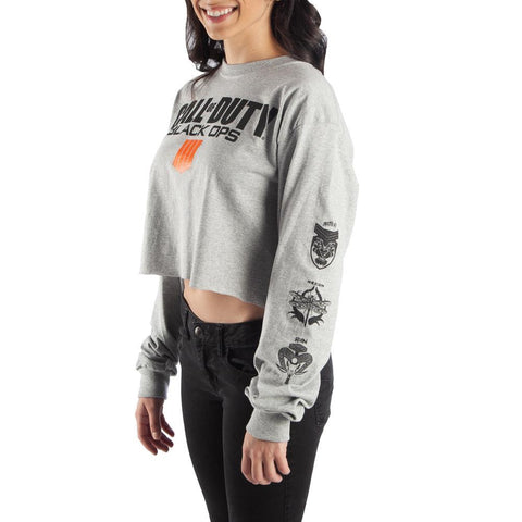 Crop Top Call of Duty Sweatshirt Call of Duty Black Ops Apparel Call of Duty Shirt - Call of Duty Black Ops 4 Apparel Call of Duty Long Sleve Shirt
