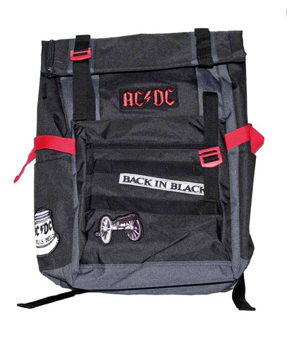 Backpacks - AC/DC Back In Black Roll-Top Backpack