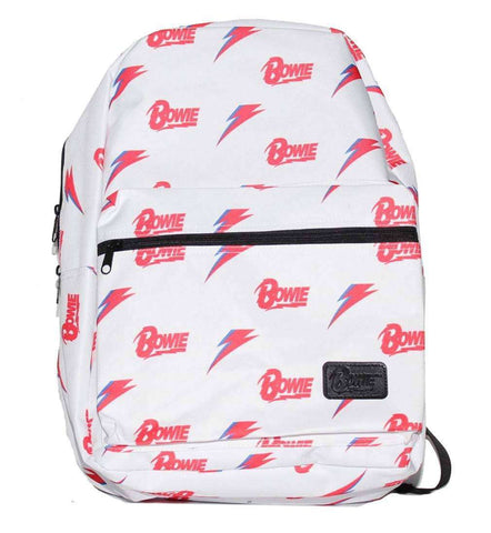 Backpacks - David Bowie All Over Print White Backpack