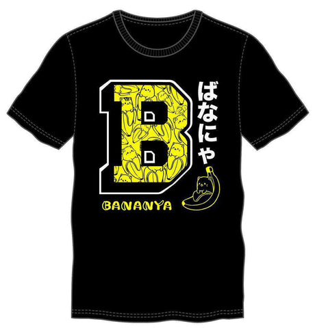 Bananya Logo Men's Black T-Shirt Tee Shirt