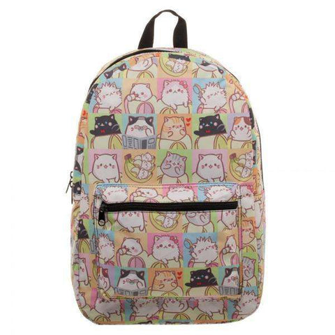 Bananya Tile Cat Sublimated Backpack