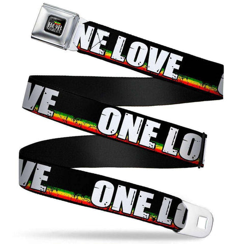 "Belt - Bob Marley One Love Seatbelt Belt (24-38"")"