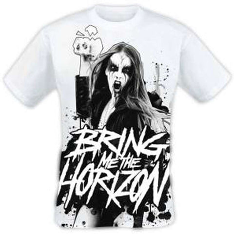Bring Me The Horizon Black Metal - Mens White T-Shirt