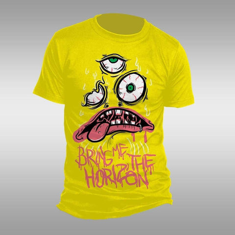 Bring Me The Horizon Kkk - Mens Yellow T-Shirt