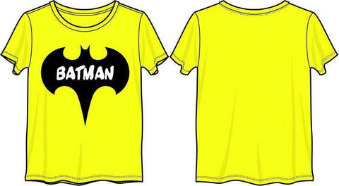 DC Comics Batman Bat Yellow Tee Shirt T-Shirt
