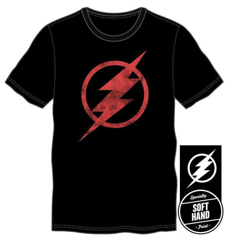 DC Comics The Flash Red Emblem Logo Men's Black Tee T-Shirt Shirt
