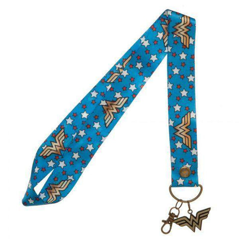 DC Comics Wonder Woman Wide Lanyard With Metal Charm