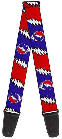 Guitar Strap - Grateful Dead Steal Your Face Lightning Bolt Guitar Strap