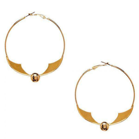 Harry Potter Snitch Hoop Earrings