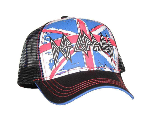Hats - Def Leppard Union Jack Mesh Back Trucker Hat