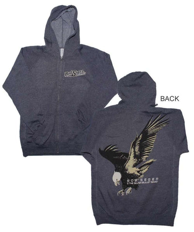 Men's Sweatshirts - Bob Seger Eagle Zip Hoodie Sweatshirt