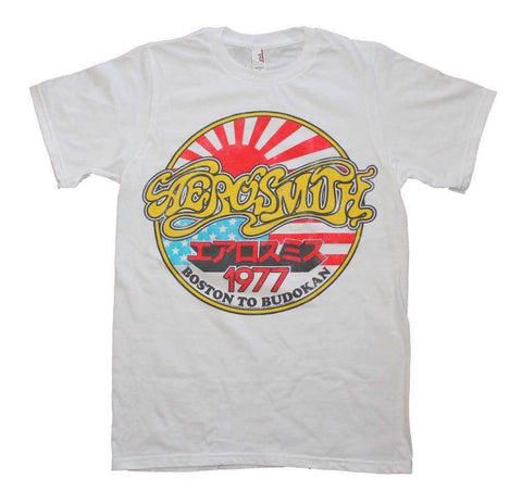 Men's T-Shirts - Aerosmith Boston To Budokan Vintage Inspired Slim Fit T-Shirt