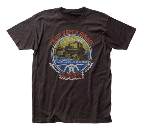 Men's T-Shirts - Aerosmith Train Kept A Rollin' T-Shirt